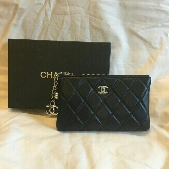 87ccf68d245534 C H A N E L Handbags - Chanel Lambskin Leather Key Chain Charm Wallet VIP